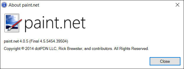 paint.net reported itself as version 4.0.5